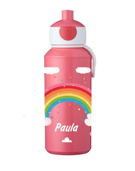 Trinkflasche Mepal Campus Pop-Up Rose Regenbogen