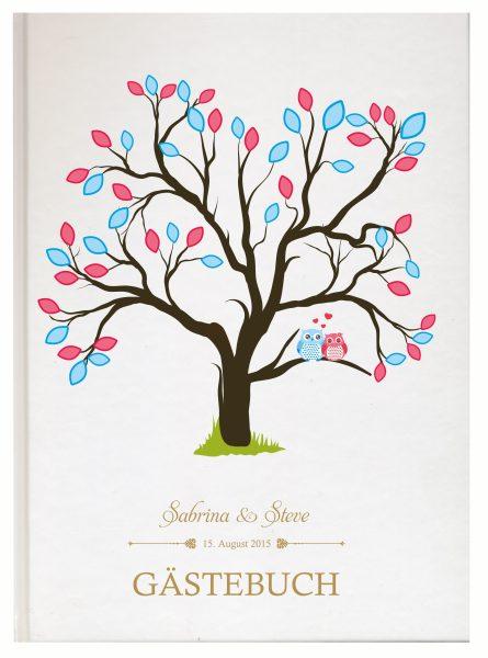 Personalisiertes Gästebuch für Ihre Hochzeit (Motiv 01)