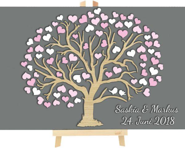 3d Baum Aus Holz Zur Hochzeit Personalisiert Herzbaum 3d Bäume