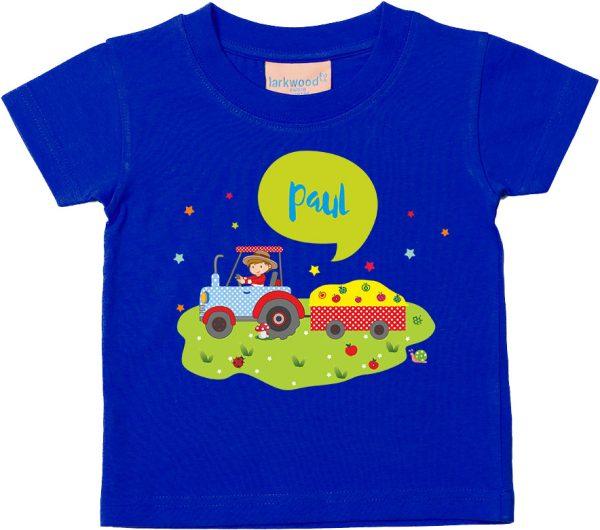 Baby T-Shirt Bauernhof Traktor neu Größe 62