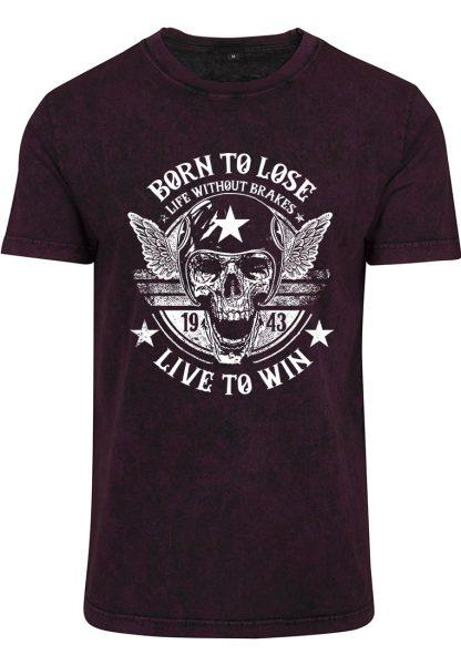 Herren Acid Washed T-Shirt Born To Lose