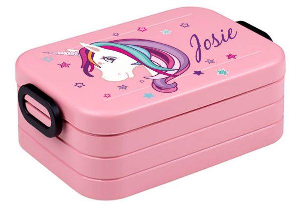 Brotdose Lunchbox Maxi Take A Break midi Unicorn Einhorn beauty