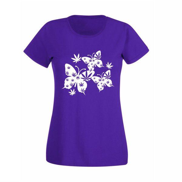 Damen T-Shirt Schmetterling