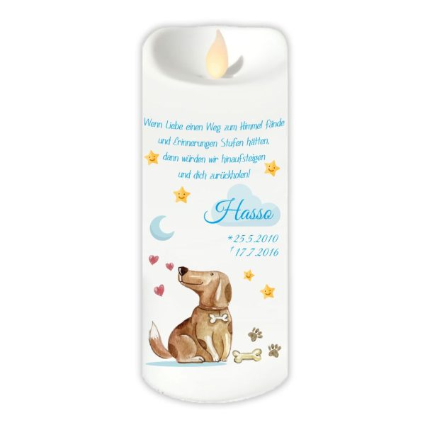 LED Kerze Twinkle für Tiere Hund mit Wolke