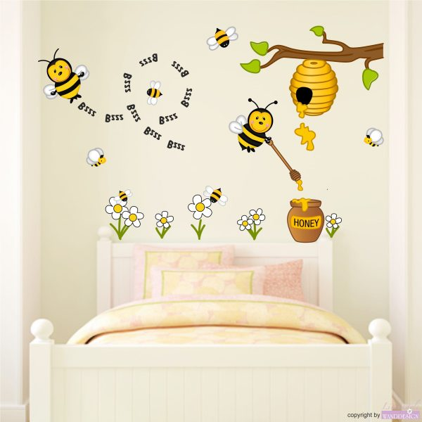 """Wandtattoo """"Honigbienen"""""""