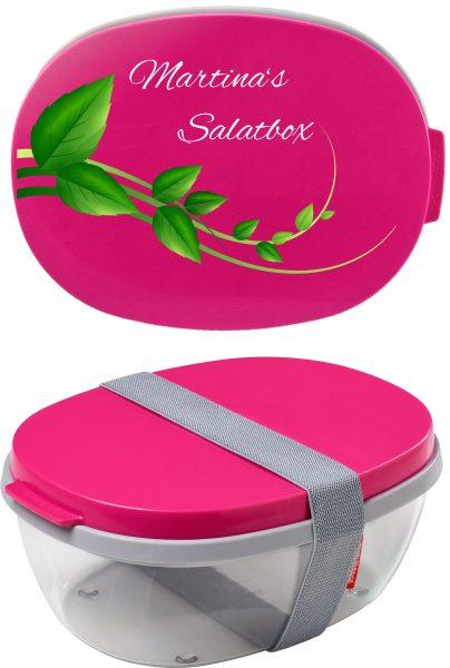 Salatbox Ellipse Pink Gras