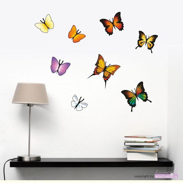 """Wandtattoo """"Bunte Schmetterlinge"""""""