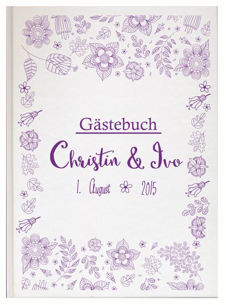 Personalisiertes Gästebuch für Ihre Hochzeit (Motiv 12)