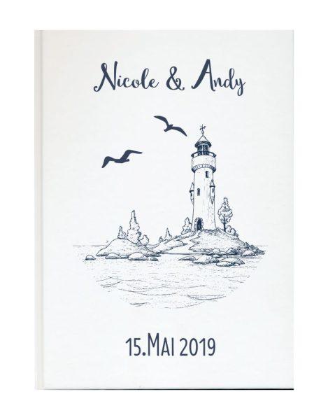 Personalisiertes Gästebuch für Ihre Hochzeit (Motiv 26)