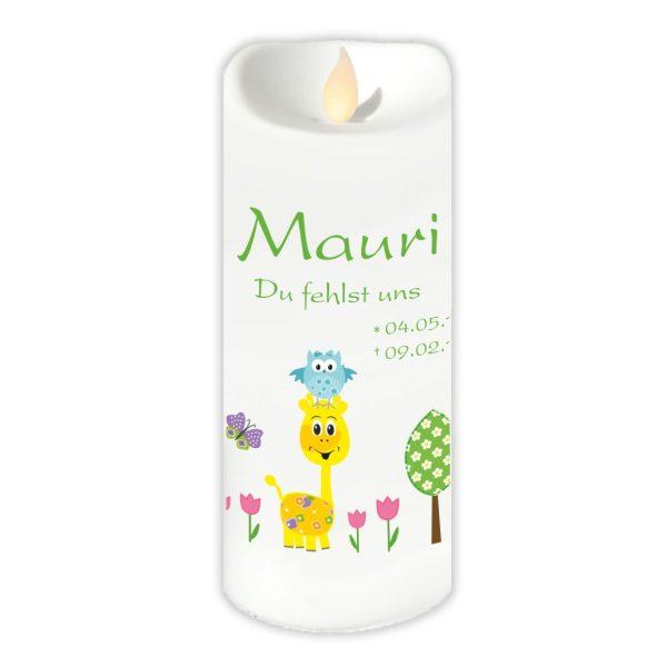 LED Kerze Twinkle Sternenkind Giraffe mit Eule