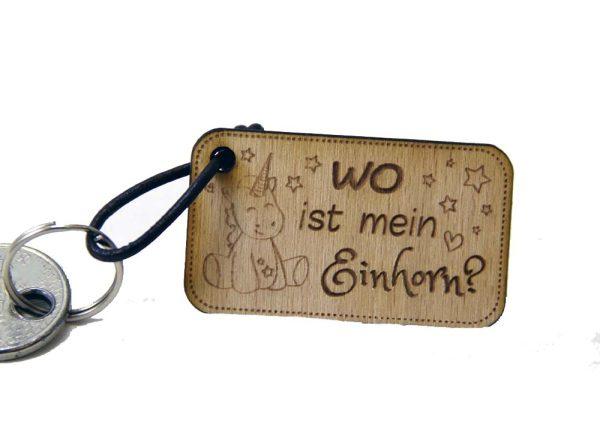 Schlüsselanhänger Aus Holz Mit Lederband Und Schlüsselring Wo Ist