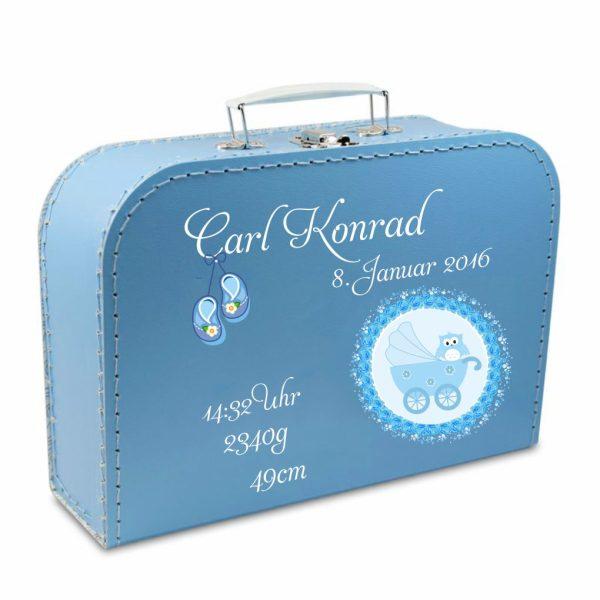 Geschenkkoffer blau Wagen