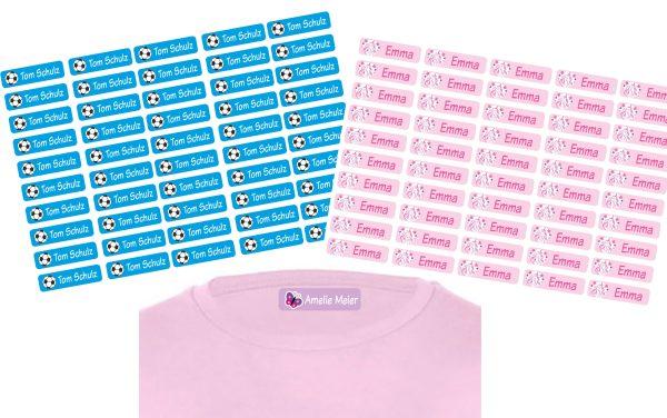 50 Personalisierte Bügeletiketten Wäscheetiketten