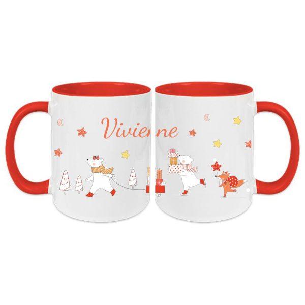 Tasse Rot Weihnachten Winterwunderland