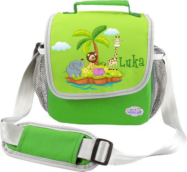 Kindergartentasche Happy Knirps grün Tierinsel