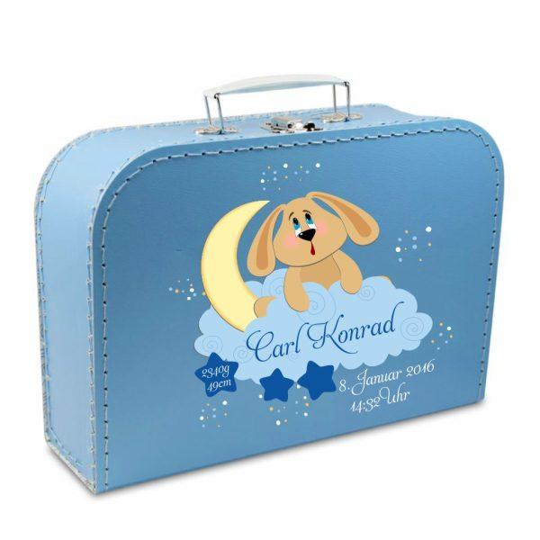 Geschenkkoffer blau Hund