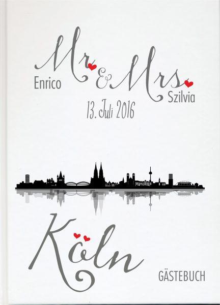 Personalisiertes Gästebuch für Ihre Hochzeit Stadt Köln