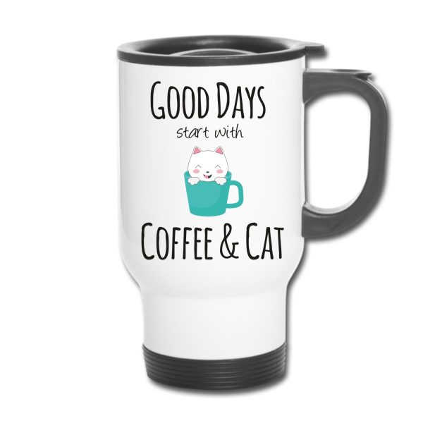 Thermobecher - Good days start with Coffee & Cat