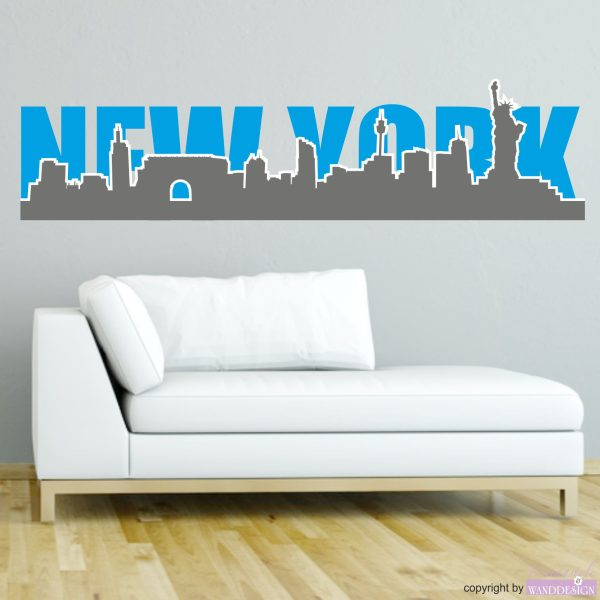 "Wandtattoo ""New York Silhouette"""