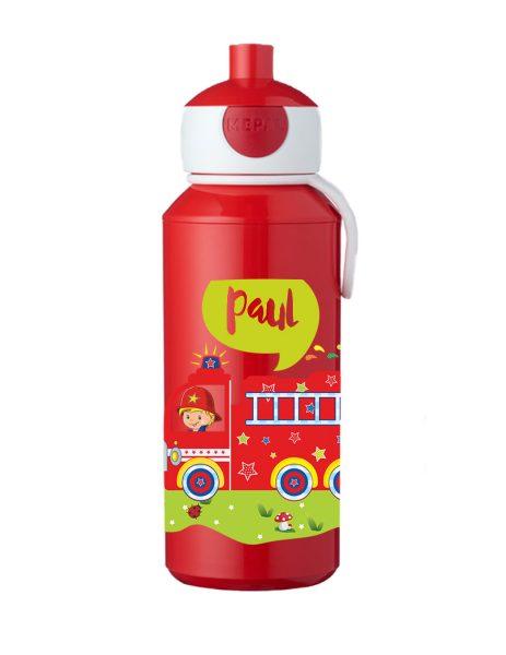 Trinkflasche Mepal Campus Pop-Up Rot Feuerwehr bunt