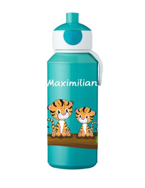 Trinkflasche Mepal Campus Pop-Up Türkis Tiger