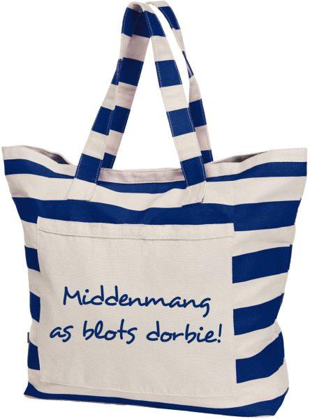Streifen-Strandtasche Shopper maritim Middenmang