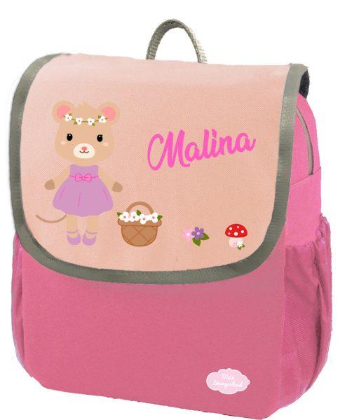 Kindergartenrucksack Happy Knirps NEXT mit Name Pink Maus