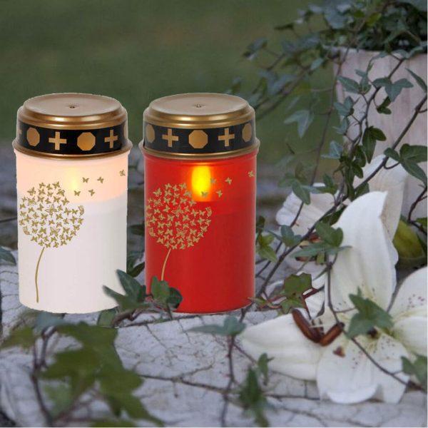 LED Grablicht Kerze Klein Pusteblume