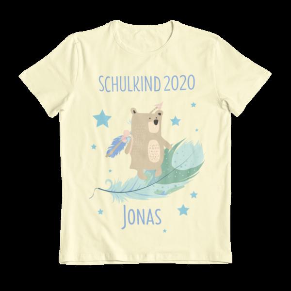 Schulanfang T-Shirt unisex mit Name