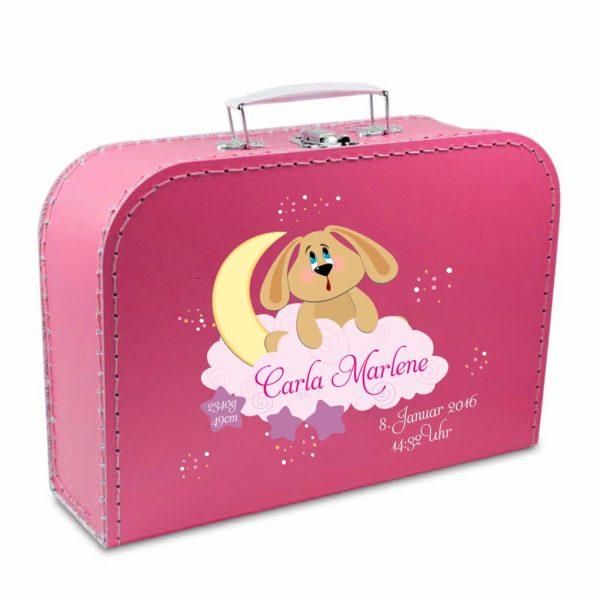 Geschenkkoffer pink Hund