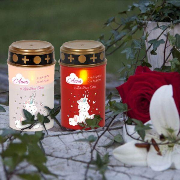 LED Grablicht Kerze Klein Sternenkind Einhorn Cutie