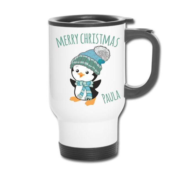 Thermobecher Weihnachten Christmas Xmas Winter Pinguin