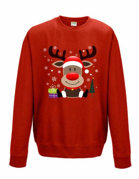 Sweatshirt Shirt Pullover Pulli Unisex Weihnachten Winter Elch