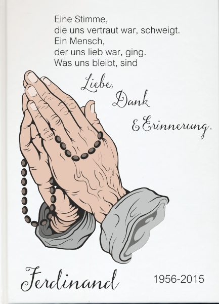 Fotoalbum Erinnerungsbuch Betende Hände