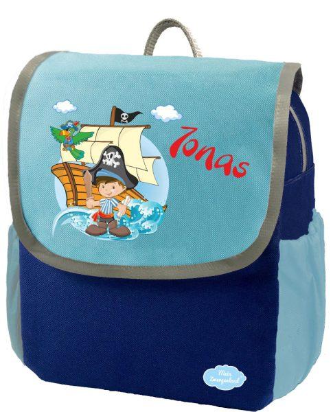 Kindergartenrucksack Happy Knirps NEXT mit Name Blau Pirat