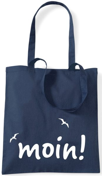 Stofftasche navy Moin!