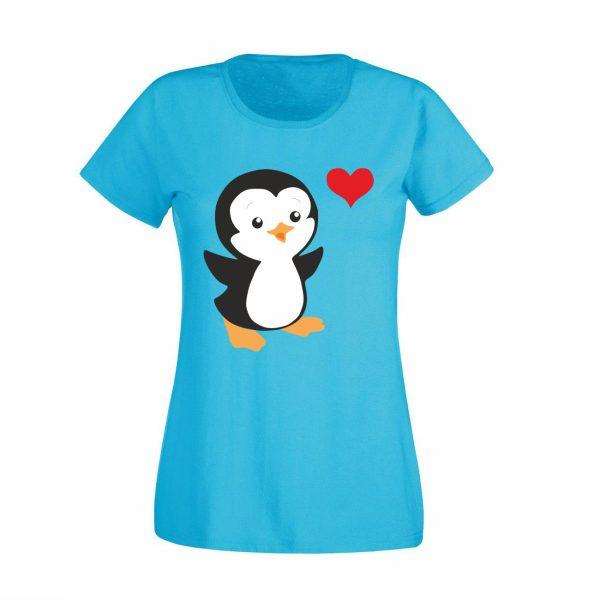 Damen T-Shirt Pinguin
