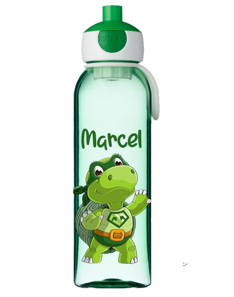 Wasserflasche Mepal Campus mit Name in Grün Schildkröte Turtle