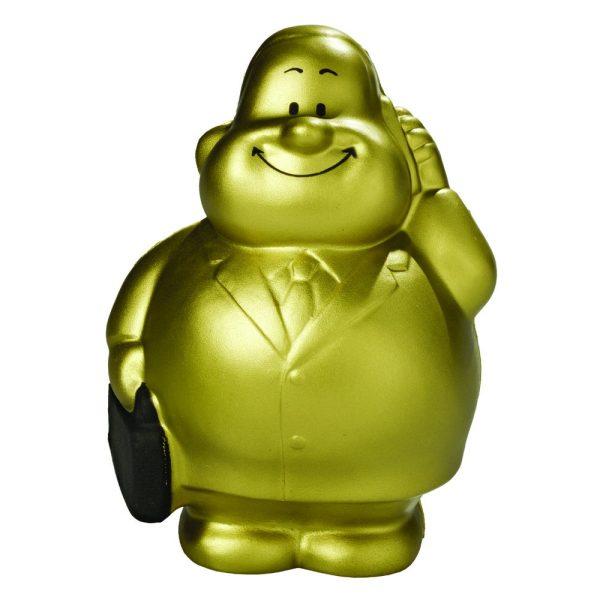 Squeezies® Knautschfigur Herr Bert Busy Bert® gold