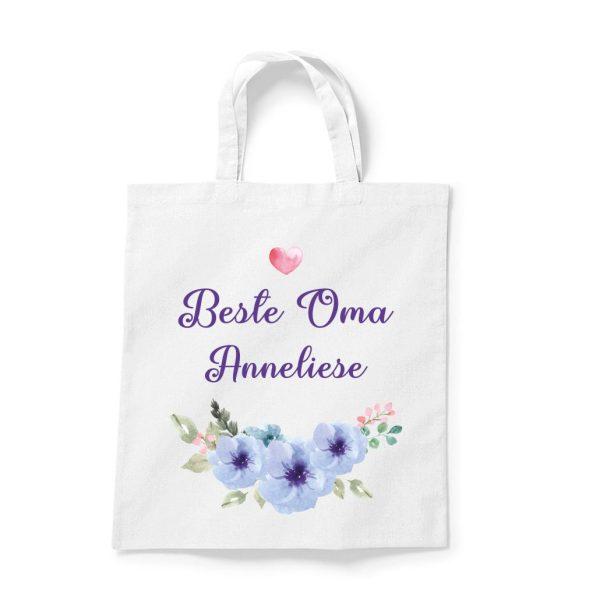Stofftasche Beste Oma - Mama mit Namen