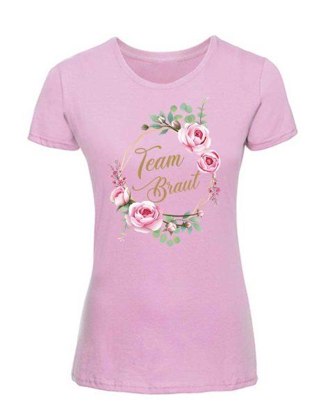 T-Shirt zum Junggesellinnenabschied JGA mit Blumenkranz