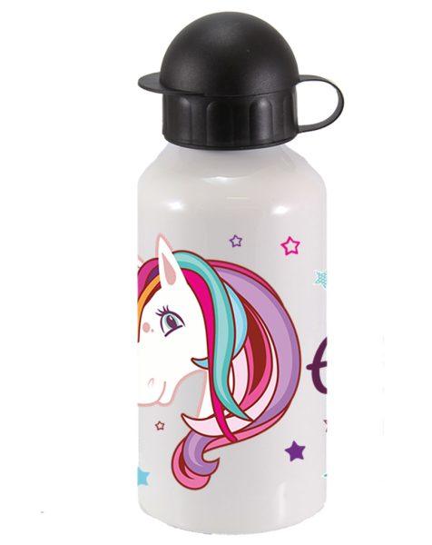 Alu-Trinkflasche Einhorn Beauty