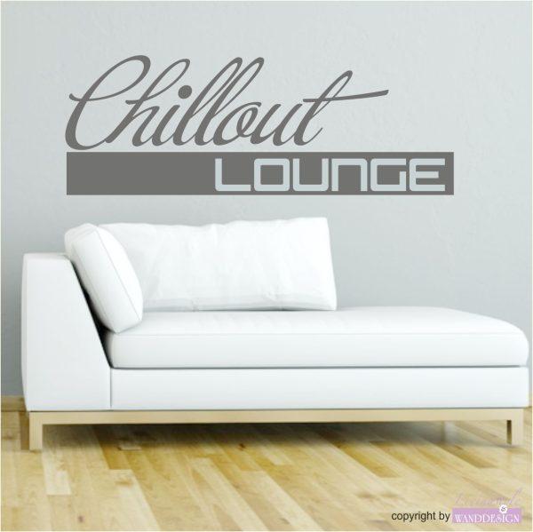 """Wandtattoo """"Chillout Lounge"""""""