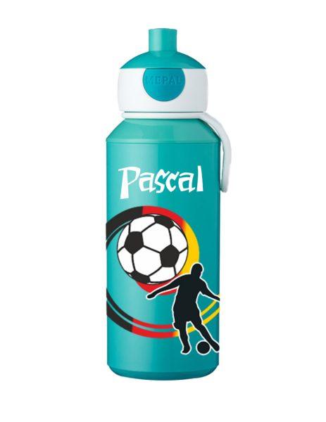 Trinkflasche Mepal Campus Pop-Up Türkis Fußball