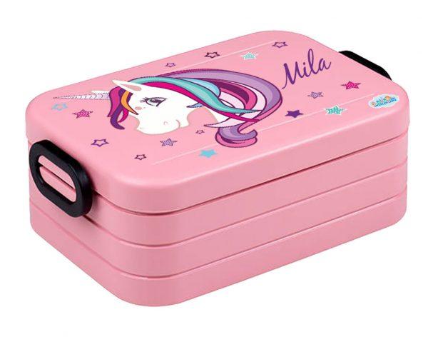 Brotdose Lunchbox Maxi Take A Break midi BENTO Box mit Gabel Einhorn Beauty