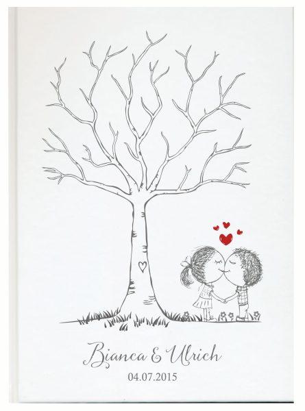 Personalisiertes Gästebuch für Ihre Hochzeit (Motiv 31)