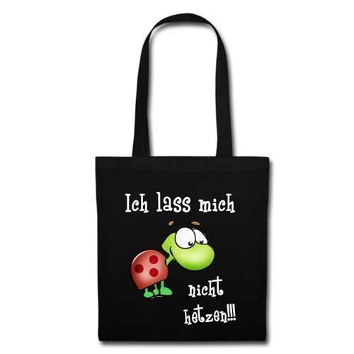 Stofftasche schwarz Ich lass mich nicht hetzen