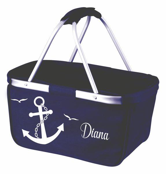Einkaufskorb Korb navy Maritim Anker