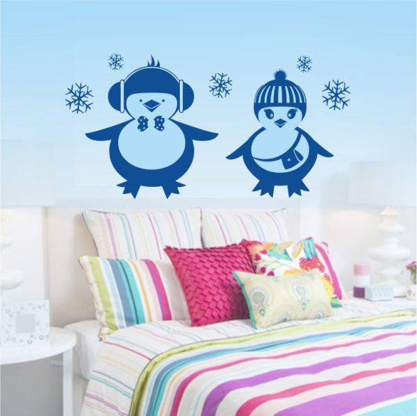 "Wandtattoo ""Lustige Pinguine"""