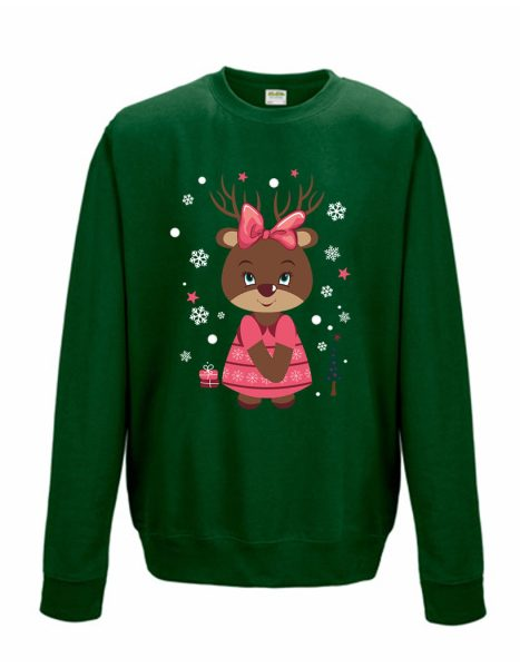 Sweatshirt Shirt Pullover Pulli Unisex Weihnachten Winter Elchmädchen
